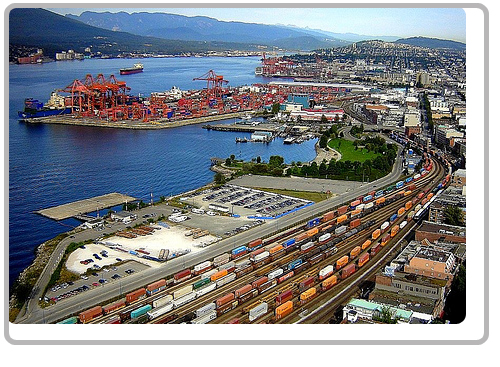 Port of Vancouver from WM Trading offices